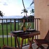 Lanai overlooking pool and oceanfront view