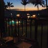 Evening dining on lanai with oceanfront views